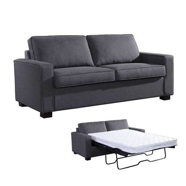 CAMPEL Καναπές-Κρεβάτι Ύφασμα Γκρι Ε9634,2