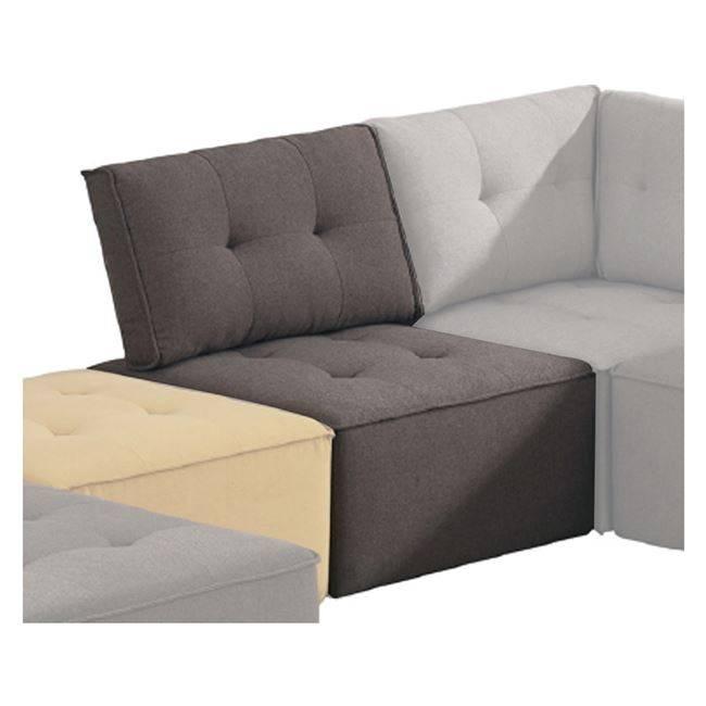 ALCO Καρέκλα Ύφασμα Καφέ Ε964,11