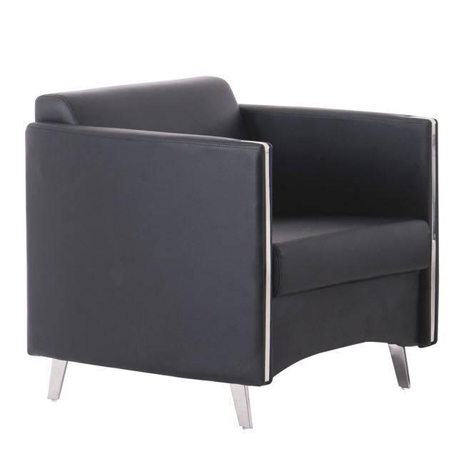 ONTARIO Πολυθρόνα K/D Pu Μαύρο Ε967,12
