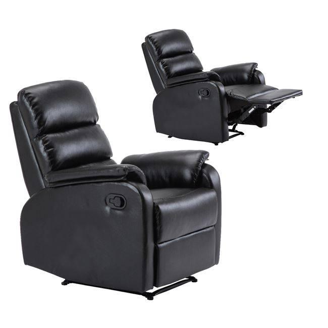 COMFORT Πολυθρόνα Relax Pu Μαύρο Ε9732,2