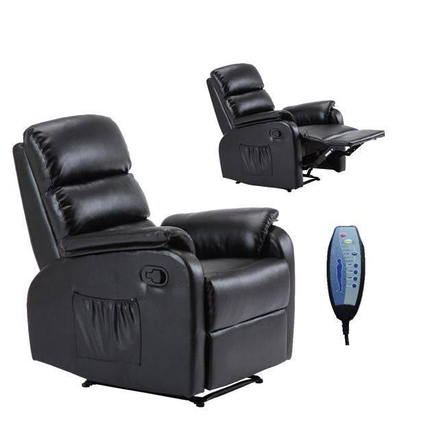 COMFORT Massage Πολυθρόνα Relax Pu Μαύρο Ε9733,2