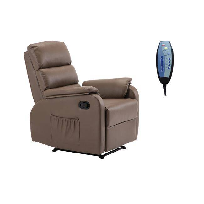 COMFORT Massage Πολυθρόνα Relax Pu Cappuccino Ε9733,4