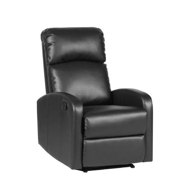 BIZARD Πολυθρόνα Relax PU Μαύρο Ε979,1