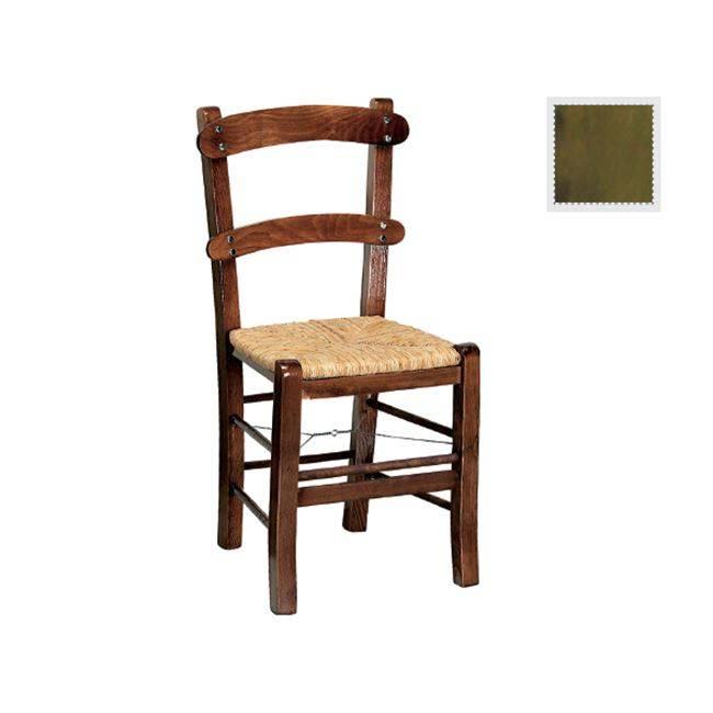 ΚΥΘΝΟΣ Καρέκλα Ψάθα Εμποτ.Ανιλίνη Πράσινο Ρ956,Ε6