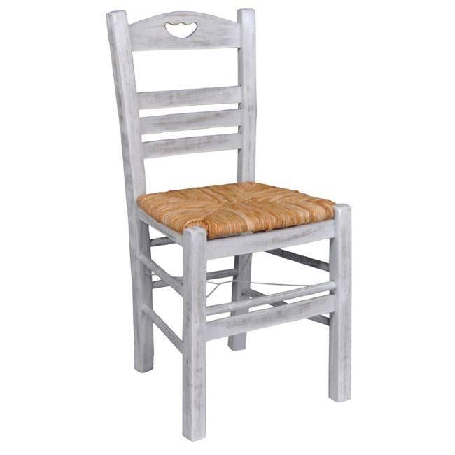 ΠΑΡΟΣ-3 Καρέκλα Ψάθα Εμποτ.Decore Ρ960-3,Ε9