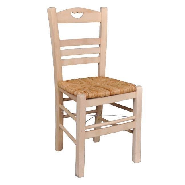 ΠΑΡΟΣ-3 Καρέκλα Άβαφη με Ψάθα Αβίδωτη Ρ960-3,0