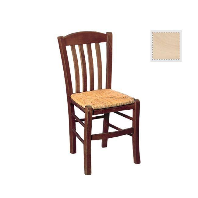 CASA Καρέκλα Άβαφη με Ψάθα Αβίδωτη Ρ966,0