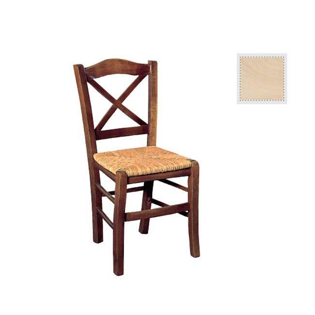 METRO Καρέκλα Άβαφη με Ψάθα Αβίδωτη Ρ967,0