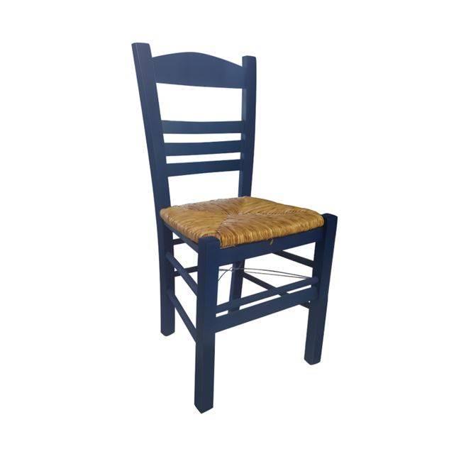 ΣΙΦΝΟΣ Καρέκλα Ψάθα Εμποτ.Ανιλίνη Μπλε Ρ969,Ε3