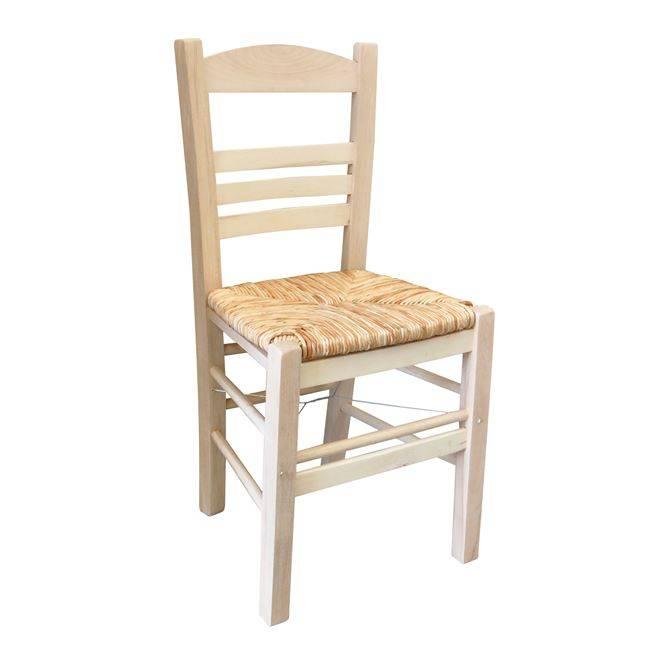 ΣΙΦΝΟΣ Καρέκλα Άβαφη με Ψάθα Αβίδωτη Ρ969,0