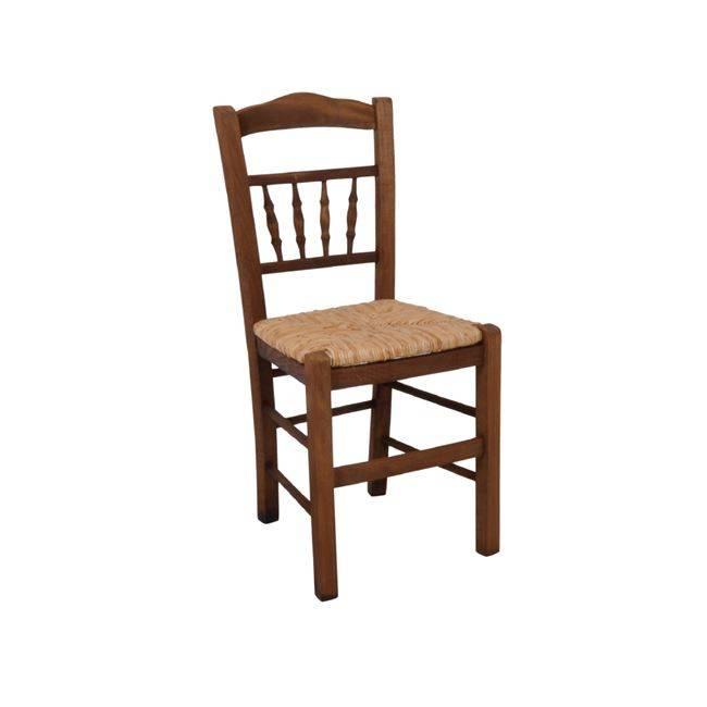 ΑΝΤΙΚΑ Καρέκλα Ψάθα Εμποτ.Καρυδί Ρ970,Ε2