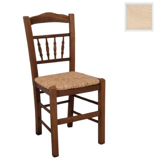 ΑΝΤΙΚΑ Καρέκλα Άβαφη με Ψάθα Αβίδωτη Ρ970,0