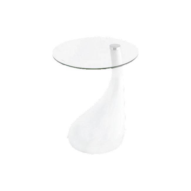 Τραπεζάκι Φ50x54cm Άσπρο