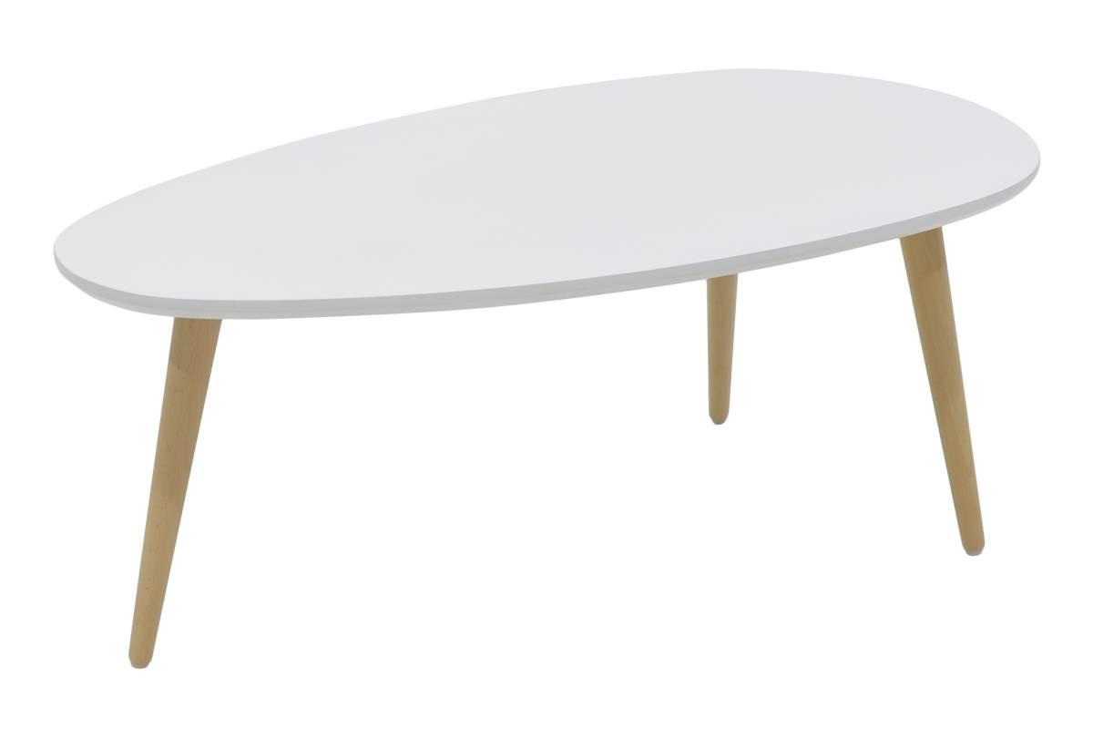 Τραπεζάκι σαλονιού χρώματος λευκό-φυσικό 89x48x33εκ